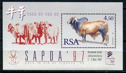 South Africa Südafrika Mi# Block 54 Postfrisch/MNH - Fauna Cattle - Afrique Du Sud (1961-...)