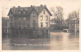 78-CHATOU- INONDATION 1910, DANS L'ILE DE CHATOU - Chatou