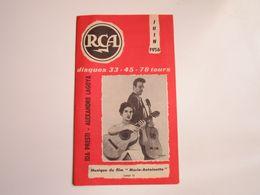 Ida PRESTI-Alexandre LAGOYA - Disques RCA - Supplément De Juin 1956 - Les Derniers Disques Parus (8 Pages) - Musica & Strumenti
