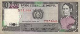 Bolivie : 1000 Pesos Bolivianos 1982 - Bolivia