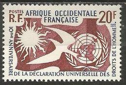 French West Africa - 1958 Human Rights MNH **   Mi 102   Sc 85 - Ungebraucht