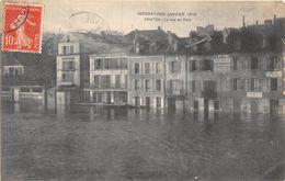 78-CHATOU- INONDATIONS JANVIER 1910, LA RUE DU PORT - Chatou