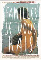 """D2225 CARTE AFFICHE """"FAMILLE JE VOUS HAIS"""" - UN FILM DE BRUNO BONTZOLAKIS - SORTIE LE 15 OCTOBRE 1995 - Affiches Sur Carte"""