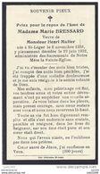SAINT - LEGER ..-- Mme Marie BRESSARD , Veuve De Mr Henri MULLER , Née En 1858 , Décédée En 1932 . - Saint-Leger