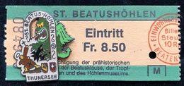 ST. BEATUSHÖHLEN - LAC DE THOUNE - THUNERSEE - DRAGON - TICKET - CURE - SUISSE - SCHWEIZ - SVIZZERA - EGF - FETE   (26) - Città