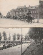 5 CPA:AMIENS (80) VUE MARCHÉ SUR L'EAU,VOITURES AUTOCARS GARE DU NORD,LA HOTOIE JEU DE TAMIS,ARTILLERIE FRANÇAISE 1914 - Amiens