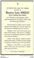CHATILLON ..-- Mr Louis HINDLET , époux De Mme Marie KROEL , Né En 1876 , Décédé En 1947 . - Saint-Leger