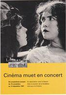 """D2229 CARTE """"CINÉMA MUET EN CONCERT"""" - 1997 - A L'AUDITORIUM DU LOUVRE - 3 FILMS : TABOU / SOLITUDE / LES DEUX ORPHELINS - Cinema"""