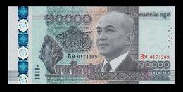 CAMBODIA 10000 (10,000) RIELS BANKNOTE 2015 UNC P-69r REPLACEMENT - Cambodge