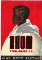 "8664 "" RHUM TIPO JAMAICA - S.A. LUIGI BETTITONI & FIGLI-ANCONA ""  - Cm. 15,4 X 10,5 - Rhum"
