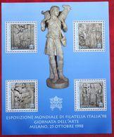 Internationale Briefmarkenausstellung ITALIA '98 1998 Mi 1258-1261 Block 18 Yv BF 18 POSTFRIS MNH ** VATICAN VATICAAN - Vatican