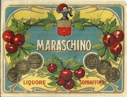 """8665 """" MARASCHINO-LIQUORE SOPRAFFINO - S.A. LUIGI BETTITONI & FIGLI-ANCONA """"  - Cm. 10,2 X 13,5 - Etiquettes"""