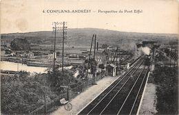 78-CONFLANS-ANDRESY- PERSPECTIVE DU PONT EIFFEL - Conflans Saint Honorine