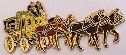 DILIGENCE - 4 CHEVAUX - PFERDE - CAVALLI - HORSES - CABALLOS - DEUX BRUN FONCE DEVANT - DEUX BRUN CLAIR -EGF -  (26) - Trasporti