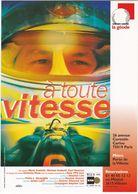 """D2232 CARTE AFFICHE """"A TOUTE VITESSE"""" - CARTE PROGRAMME """"LA GÉODE"""" - PARIS - 1998 - Affiches Sur Carte"""