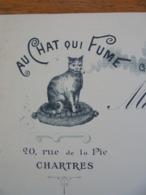 FACTURETTE - 28 - DEPARTEMENT EURE ET LOIR - CHARTRES 1912 - BONNETERIE, GANTERIE:AU CHAT QUI FUME : Mles. LEGERE - Unclassified