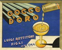 """8667 """" GOCCE D'ORO - LUIGI BETTITONI & FIGLI-ANCONA  """"  - Cm. 11,8 X 14,7 - Etiquettes"""