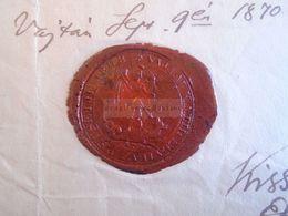 D172632 Old Document - Hungary  Székesfehérvár Fejér  VAJTA Sárbogárd - Gyökér Anna  1839 - Kiss Jósef Esperes 1870 - Nacimiento & Bautizo