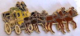 DILIGENCE - 4 CHEVAUX - PFERDE - CAVALLI - HORSES - CABALLOS - DEUX BRUN CLAIR DEVANT - DEUX BRUN FONCE - EGF -  (26) - Transportes