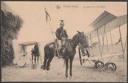 Armée Belge La Garde De L'aéroplane Ruiter Bewaakt Vliegtuig Belgische Leger Guerre Oorlog 1914 1918 Avion Chasseur - Guerre 1914-18