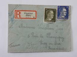 Timbres No 717 - 718 Hitler Sur Enveloppe De Frankfurt - Main Vers Sucy En Brie ... Lot140 . - Germany