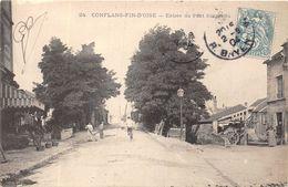 78-CONFLANS- ENTREE DU PONT SUSPENDU - Conflans Saint Honorine
