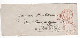 Rotterdam - 5.10.1868 - Paris - Franco - Frankrijk - Postal History