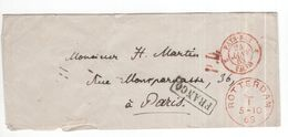 Rotterdam - 5.10.1868 - Paris - Franco - Frankrijk - Marcofilia