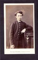 CDV MULNIER   PARIS  :   Jeune Pensionnaire De Lycée Impérial Vintage Albumen Circa 1860 - Ancianas (antes De 1900)