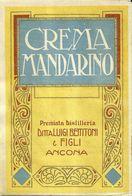 """8671 """" CREMA MANDARINO - PREMIATA DISTILLERIA LUIGI BETTITONI & FIGLI-ANCONA  """" - Cm. 14,5 X 9,9 - Etiquettes"""