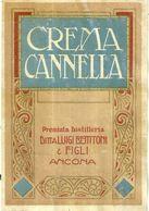 """8672 """" CREMA CANNELLA - PREMIATA DISTILLERIA LUIGI BETTITONI & FIGLI-ANCONA  """" - Cm. 14,5 X 9,9 - Etichette"""