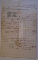 D172634 Old Document - Hungary  MOHÁCS - 1862 - Paulus Wellenschütz - (Magdalena Rikker, Baja) -Gabriel GRAGER Parochus - Décès