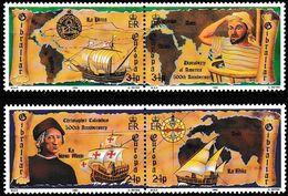 Gibraltar 1992  EUROPA CEPT DISCOVERY OF AMERICA MiNr  638-641  MNH /** - Europa-CEPT