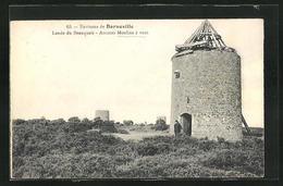CPA Barneville, Lande Du Beauquais, Anciens Moulins à Vent - Barneville