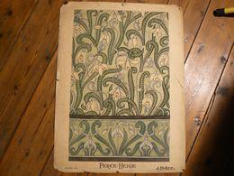 Gouache Et Plume, Dessin Perce Neige. Signé H.Caillez. 69 X 51 Cm. - Gouaches