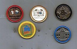 Lot De 5 Pin's JO Albertville 92 (série Complète) - Jeux Olympiques