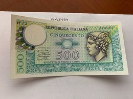 Italy Mercurio 500 Lire Uncirc. Banknote 1974 #4 - [ 2] 1946-… : Républic
