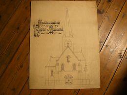 Dessin Plume, Restauration De L'église De Bailleul, Nord. 62 X 57.5 Cm. - Dessins