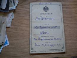 Arbeitsbuch Berlin 1919 Polizei Revier Berlin - Documents Historiques