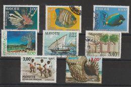 Mayotte 1999-2000 Lot De 8 Timbres Oblitérés - Oblitérés