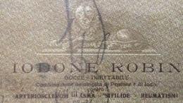 FARMACIA - B. P. DENT. IODONE ROBIN Gocce - Iniettabile Per SIFILIDE ASMA REUMATISMI ...- DA GAGLIANO LECCE A NAPOLI - Advertising