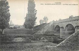 CPA 85 Vendée Mareuil Sur Lay Dissais Le Pont Sur Le Marillé - Mareuil Sur Lay Dissais