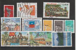 Mayotte 2001-2002 Lot De 11 Timbres Oblitérés - Oblitérés