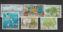 Mayotte 2006-2007 Lot De 6 Timbres Oblitérés - Oblitérés