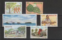 Mayotte 2008-2010 Lot De 6 Timbres Oblitérés - Oblitérés