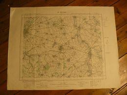 Carte. Le Cateau, Nord. 72.5 X 58.5 Cm. - Topographical Maps