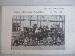 Abbeville   Société D Excursions Scientifiques  26 Mai 1901 - Abbeville