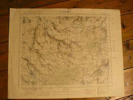 Carte. Le Quesnoy, Nord. 69 X 54 Cm. - Topographical Maps