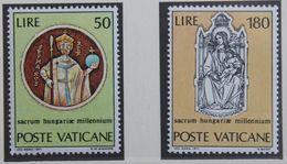 1000.Jahrestag Der Einigung Ungarns 1971 Mi 594-595 Yv 531-532 POSTFRIS / MNH / ** VATICANO VATICAN VATICAAN - Vatican