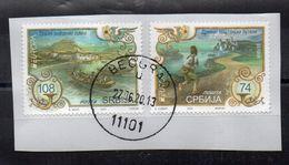 SERBIE - SERBIA - 2020 - EUROPA - LES ANCIENS CHEMINS POSTAUX - Oblitérés - Used - Sur Fragment - Unstucked - - Serbien